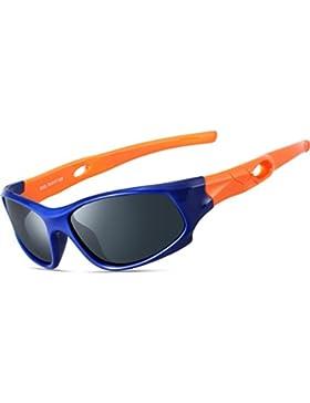 ATTCL Unisex-niños Deportes Gafas De Sol Polarizado Uv400 Protección Súper Ligero años 3-12 5025-orange-blue
