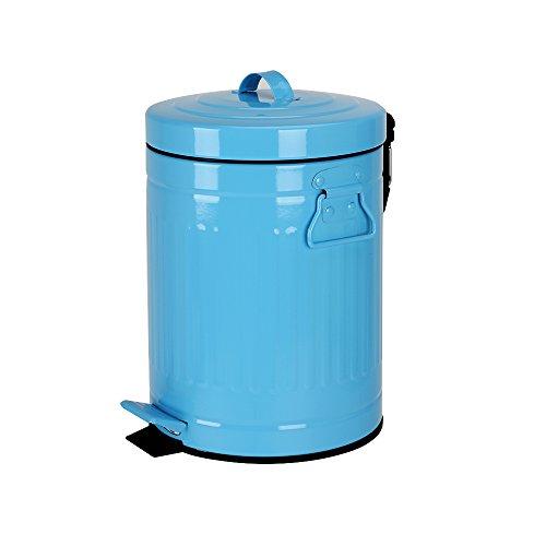 mingol rund Schritt Farbe Trash kann für Schlafzimmer Badezimmer, 5Liter/1,3Liter blau