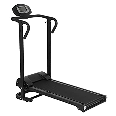 Blackpoolal JS1806 Folding Treadmill Silent Household Fitness Running Machine for Home Exercise Display Speed Time Distance And Calorie by Blackpoolal