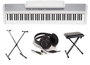 Pianos numériques KORG FULL PACK SP170S WH Pianos numériques portables