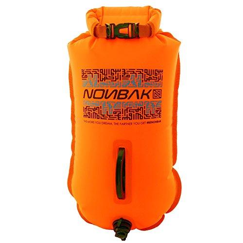 Nonbak boya natacion estanca 28L ,bolsa impermeable, naranja, talla M