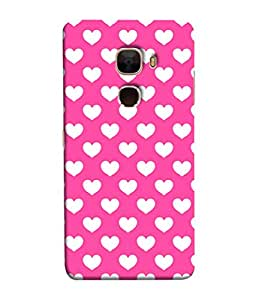 PrintVisa Designer Back Case Cover for LeTv Le Max :: LeEco Le Max (Pink Background With White Hearts)