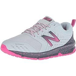 New Balance Nitrel V1, Zapatillas de Running para Asfalto para Mujer, Gris (Light Porcelain Blue/Gunmetal/Pink GLO Rl1), 39 EU