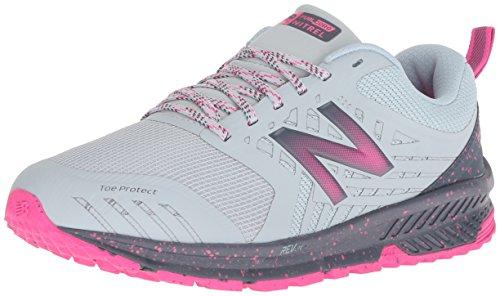 New Balance Damen Nitrel v1 Traillaufschuhe, Grau (Light Porcelain Blue/Gunmetal/Pink Glo Rl1), 40 EU - Response Trail-running-schuh