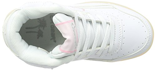 L.A. Gear Flo Lights, Chaussons montants mixte enfant Weiß (white/soft pink)
