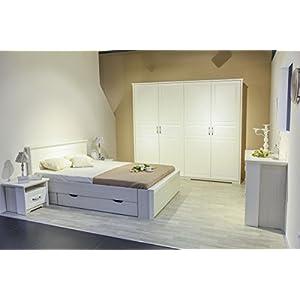 Schlafzimmer Komplett – Set A Falefa, 6-teilig, Farbe: Weiß