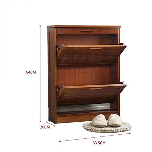 Mingcong Bücherregal-Eingang Schuh Gestell, Retro-Schublade Regal-Hallen Schrank/Locker,S (Asche Bücherregal)