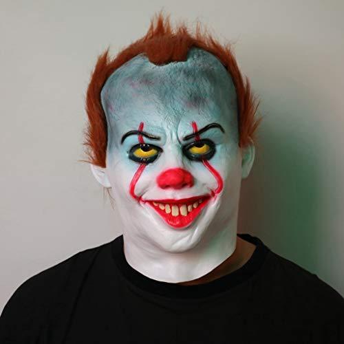 HS-ZM-06 Halloween Maske Blau Clown Kopfbedeckung Lustige Maske Terrorist Streich Requisiten Rollenspiele Zubehör Spukhaus Bar Party Dekoration Karneval Maske (Friedhof Zombie Kostüm Kit)