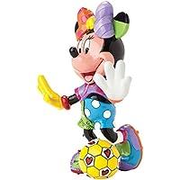 Enesco Disney By Romero Britto Minnie Calcio, Ceramica, Multicolore, 12x14x16 cm