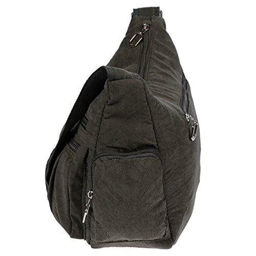 Christian Wippermann®, Borsa a spalla donna grigio grigio chiaro 31x24x11 cm grigio scuro