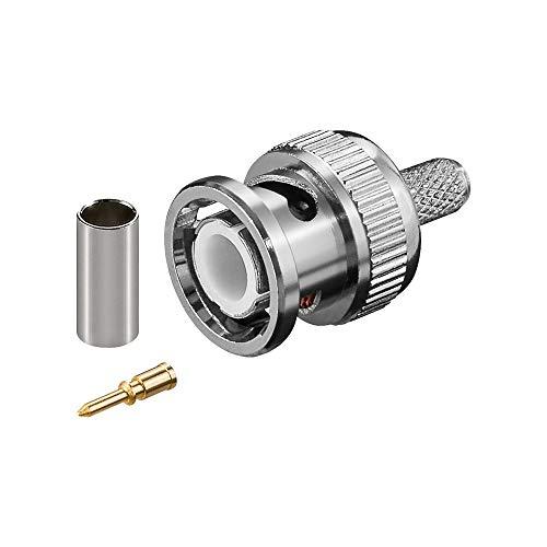 Wentronic bnc-Connector BNC Silber Aderverbinder-Verbinder Fäden (Silber)