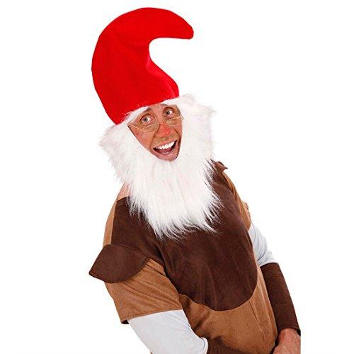 Red Dwarf Hat With Beard Gnome Hat Dwarf Gnome Hat Dwarf Fancy Dress ... bd27fa59bd6a