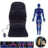 Coussin de massage avec 5 zones de massage, Shiatsu - Tapis de massage pour la maison, le bureau, la voiture, la thermothérapie électrique - Massage vibrant avec télécommande