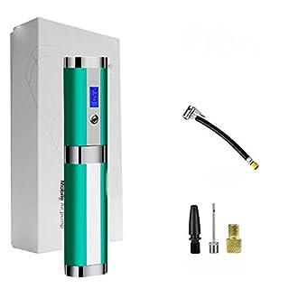 WYYSYNXB Tragbar Intelligente Luftpumpe LED Lichtsäule Aufblasbar 120W Aufladen Reifen Luftpumpe,Green