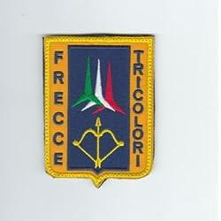 """Parche Patch Militar con velcro """"Aeronautica Militar - frecce Tricolori - Palabras y dibujos bordadas - cm 7 x 9 Replica 1202"""