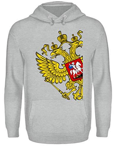 Union Heather T-shirt (Russia Tshirt Russland Flagge goldene Adler Geschenk Poccnr - Unisex Kapuzenpullover Hoodie -S-Sportgrau Heather)