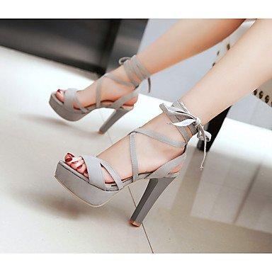 LvYuan Sandali-Casual-Club Shoes-Quadrato-PU (Poliuretano)-Nero Rosso Grigio gray