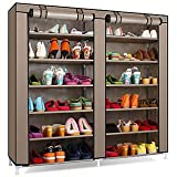 Sterling Steel, Fabric Collapsible Shoe Stand (Multicolor & Multi-Design, 12 Shelves)