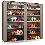 #9: Sterling Steel, Fabric Collapsible Shoe Stand (Multicolor & Multi-Design, 12 Shelves)