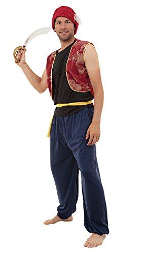 Bristol Novelty AC299 Arabischer Bandit Kostüm, Mehrfarbig, 42-44 - Ein Bandit Kostüm