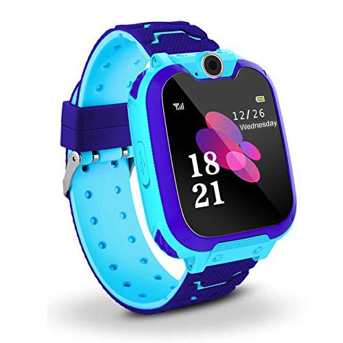 Bhdlovely Kids SmartWatch Phone Digital Camera Watch with Games, Music Player, Alarm Clock,Recorder, and 1.44 inch Touch LCD for Boys Girls Birthday Blue (Blue) Phone Call Recorder