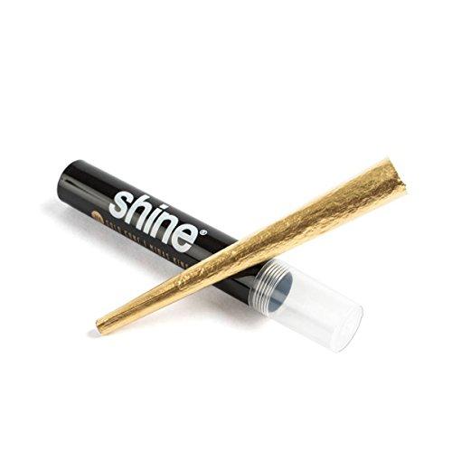 Shine 24K Cartine d'oro per sigarette Confezione da 1 foglio King size pre-arrotolate - 1x carta d'oro - Foglie d'oro di alta qualità