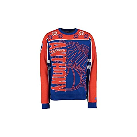 Forever Collectibles NBA New York Knicks Carmelo Anthony Ugly Sweater XX Large