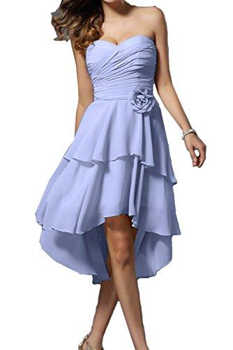 TOSKANA BRAUT Damen Traegerlos Chiffon Herzform Blumen Falte Cocktail  Partykleider Hilo Abendkleider 2017 Lavender