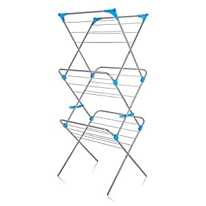 minky 3 tier indoor airer 15m drying space silver. Black Bedroom Furniture Sets. Home Design Ideas