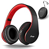 Bluetooth Headphones Over-Ear, Zihnic Foldable Wireless and Wired Stereo Headset Micro SD/TF, FM for iPhone/Samsung/iPad/PC,Comfortable Earmuffs &Light weight for Prolonged Wearing
