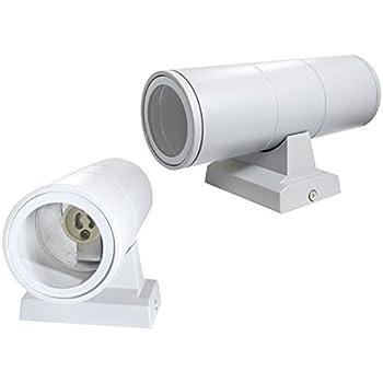 Applique a parete doppia emissione per esterno giardino ip55 lampada moderna gu10 nero es01-n B29