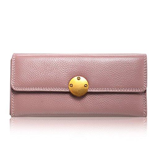 WU Zhi Lady In Pelle La Posizione Multi-card Portafogli Portamonete Pink