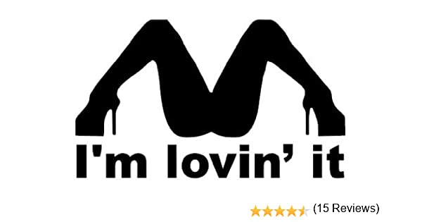 Im Lovin It Funny Bumper Sticker Car Van Bike Sticker Decal Free