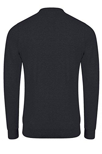 Kensington Eastside - Pull - Pull - Uni - Col Chemise Classique - Homme gris gris Small True Navy - Blue