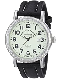 Zeno Watch Basel Men's Automatic Watch Nostalgia 1868 98079-s9 with Leather Strap