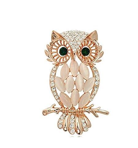 Schule Saison Sommer Geschenk Opal Swarovski Kristall Elements Eule Damen Brosche Schnalle-Epauletten Kleidung Zubehör Förderung