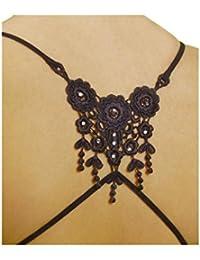 CORIKO 10403 textiler BH-Träger auf dem Rücken gekreuzt schwarz