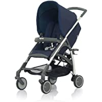 Inglesina AG50E5ECB/X Passeggino Avio All Over, Argento /Ardesia Eclipse Blue - Ruote In Alluminio Eclipse
