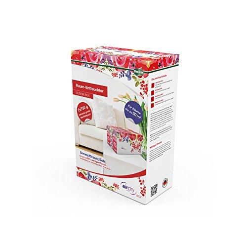 Preisvergleich Produktbild Thomar airDry Raum-Entfeuchter Design BOX Flower, 2x 750g, bis zu 30 m²