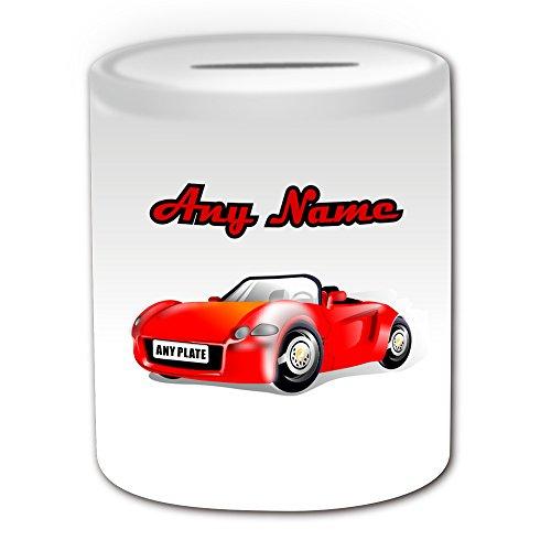 De regalo mensaje personalizado - Hucha carreras coche
