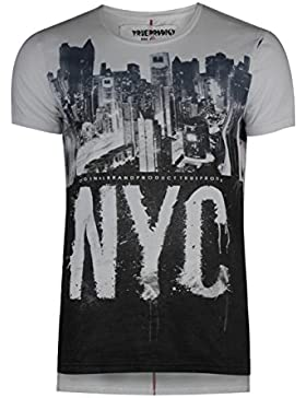 trueprodigy Casual Hombre marca Camiseta estampado ropa retro vintage rock vestir moda cuello redondo manga corta...