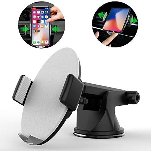 XRQPhone holder Base de ventosa de escritorio HMT4 libremente ajustable Soporte de soporte for teléfono con abrazadera automática inteligente, for iPhone, Galaxy, Sony, Lenovo, HTC, Huawei y otros tel