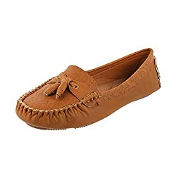 Mochi Women Camel Synthetic Loafers ( Size Euro39/Uk6 )