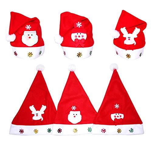 Tragen Custume - Amacoam Weihnachtsmütze für Kinder und Erwachsene