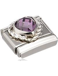 Nomination 330603-001 - Abalorio de acero inoxidable con circonita