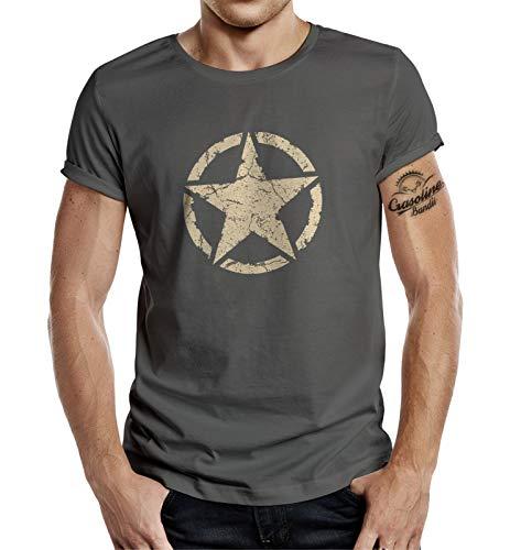 Classic T-Shirt für den US-Army Fan: Vintage Star 2XL - Hot Herren T-shirts