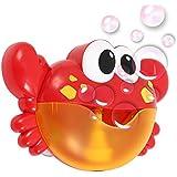 Littlegrasseu Máquina Cangrejo de Burbujas con 12 Música Automático Juguetes de Baño Canalón Bañera para Niños Ducha nSpout Bath Bubble Blower