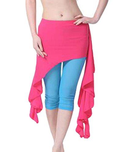 ZhiYuanAN 4Pcs Costume Danse Du Ventre Tops & Soutien-Gorge & Jupe & Pantalon Set Rose