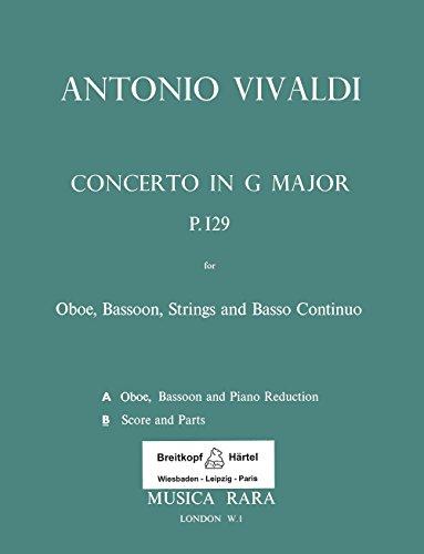 Concerto in G-dur RV 545 für Oboe, Fagott, Str, Bc - Partitur und Stimmen (MR 1665b)