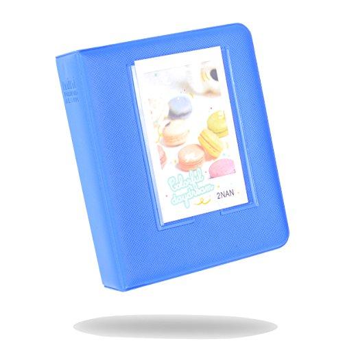 Kaka Mini-Fotoalbum für Fujifilm Instax Mini 9,8,8+, 7S, 25,26,50S, 70,90Sofortbildkamera, mit Namensschild, für 64 Fotos kobaltblau